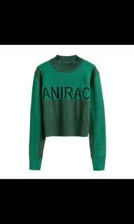 NEW Anirac Green Sweater size L