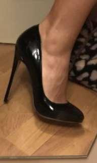 Black loub inspired patent 12cm heel size 8
