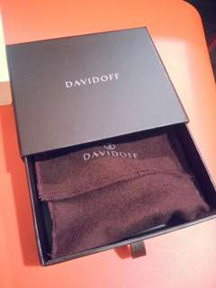 Authentic DavidDoff Keyholder Leather Black (Made in Italy)