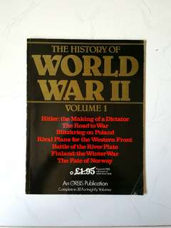 History of the World War II Volume 1, Eddy Bauer & Peter Young, 95 pages, Orbis Publication (World War Two History Reference)