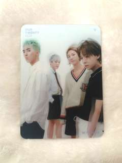 Winner Our Twenty For group lenticular card