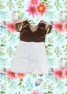 Velvet top and Denim Skirt