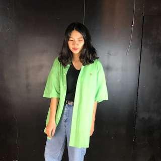 🚚 古著Polo Ralph Lauren 綠色短袖襯衫