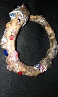 White Akar Bracelet with gemstones