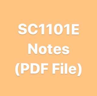 SC1101E Notes
