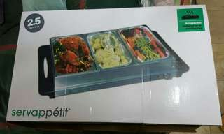 servappetit buffet server with warming tray