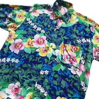 🚚 顛復古⚡️復古繽紛迷幻花朵古著夏威夷襯衫❤️男女皆可
