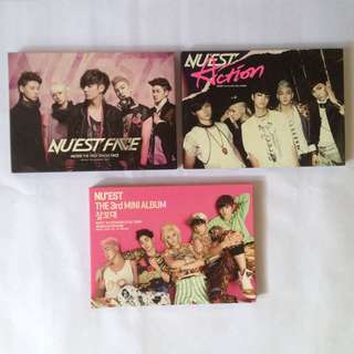 Nu'est official album Face Action Sleep Talking with posters