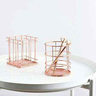 pre order rose gold pencil holder
