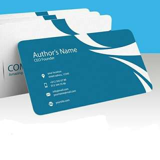 🚚 Cheapest! Business name card, Round Corners, 500pcs, full color, both sides, laminated finishing