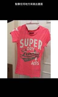 🚚 Superdry 亮粉色上衣