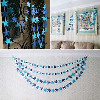 Party Star Garland / Bunting (Blue)