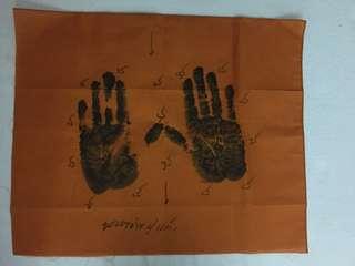 Phayant hand print Lp keow wat sapanmaikien be:2560
