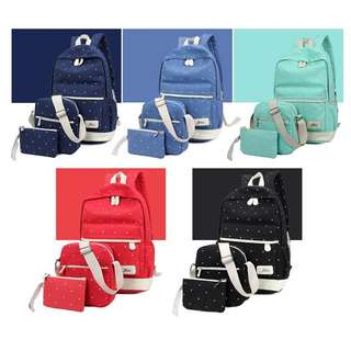 韓式背囊三件套裝 Korean Rucksack Three-Piece Set