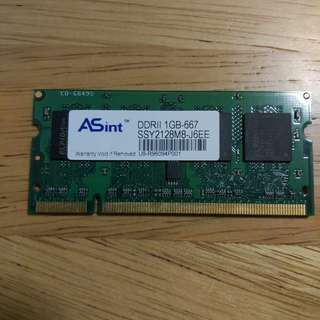Unknown Condition - 1GB DDR2 SODIMM RAM