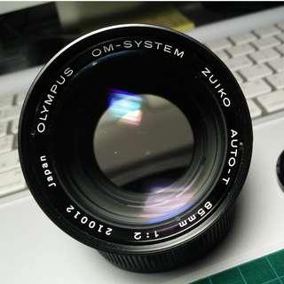 OLYMPUS  85mm人像鏡 OM-SYSTEM ZUIKO AUTO-T 85mm F2