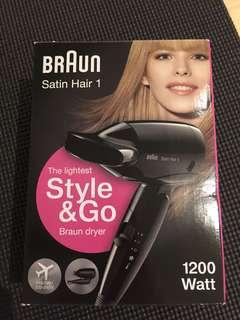 Braun hair dryer