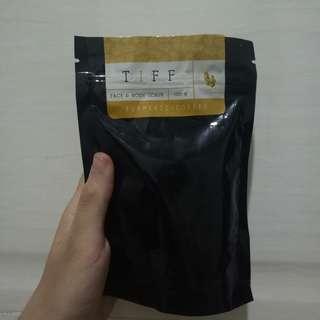 tiff body turmeric+coffee face and body scrub