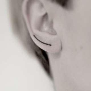 簡約黑色個性耳針耳環