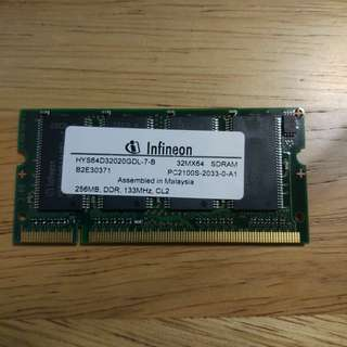 Unknown Condition - 256MB DDR SODIMM RAM