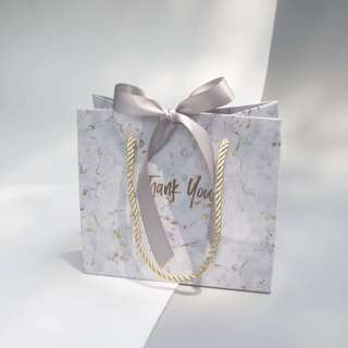 Marble Design Paper Bag Door Gift Favors