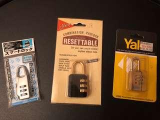 自訂號碼密碼鎖三個不同款