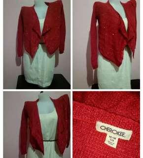 CHEROKEE Red Formal Top