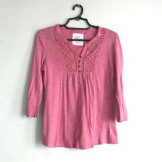 3/4 Pink Blouse
