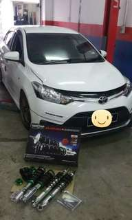 ADJUSTABLE ZERONE SSR550 TOYOTA VIOS 2017