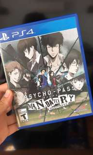 Psycho Pass PS4 game