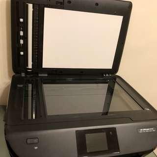 HP OfficeJet 5740 惠普打印機列印機9成新 可列印掃描傳真複印 可連接網絡