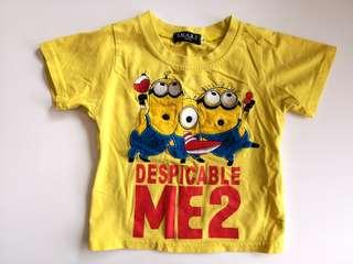 PRELOVED Despicable Me Cartoon Applique Minion Yellow T-shirt - in good condition