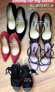 Branded heels / sandals