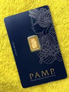 PAMP (1 gram pure gold bar) ✅