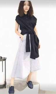 Dresscode 短袖直紋襯衫洋裝