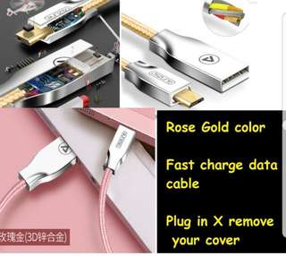 🆓📩Android Samsung Fast Charge Cable pink  Postage Fee BNIB