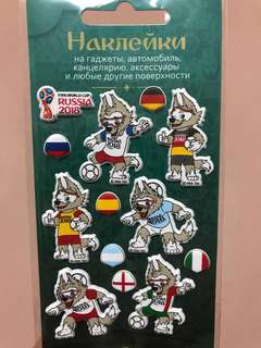FIFA World Cup 2018 Russia Official Merchandise (Mascot Stickers)