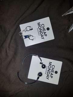 Cheap Monday Original Zipper and Ball Earing