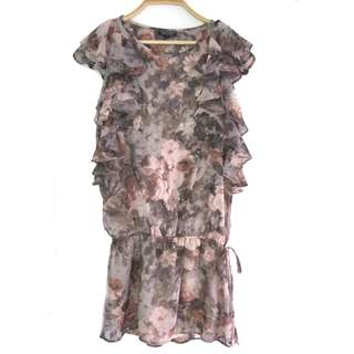 Topshop Printed Dropwaist Dress