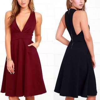 Deep V Plunge Dress
