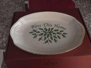 Bless this home heirloom serving dish