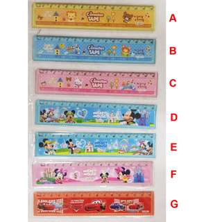 [2 for $0.50] Cartoon Ruler