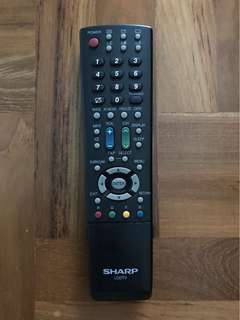 Used Original Sharp Aquos TV Remote Control GA633WJSA