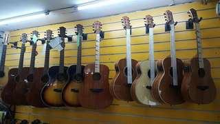 Different brand guitars