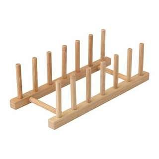 Rak piring kayu IKEA (Ostbit)