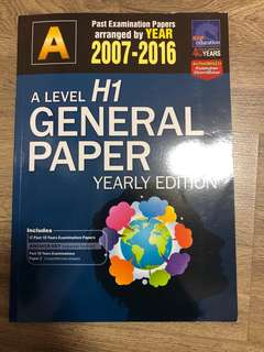 H1 General Paper A-Level TYS
