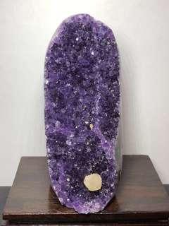 Amethyst Crystal slab 方解石紫晶镇 380g