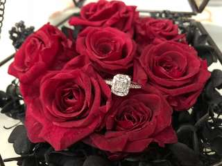 Brand new Real diamond ring with certificate