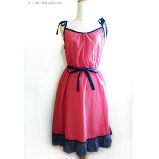 Red Polka Dot Cotton Dress from Faded Glory Size 6 / S / M