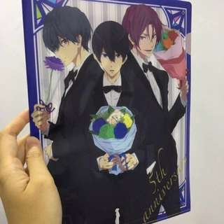 Free! Dive to the future manga anime clear folder from Japan